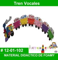 tren de vocales material didactico de fomi para aprendeer el lenguaje