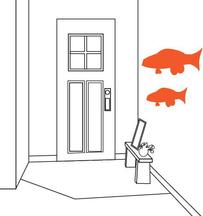 プーカを玄関に飾る
