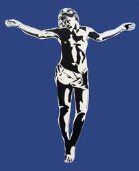 Blek le Rat Jesus blue