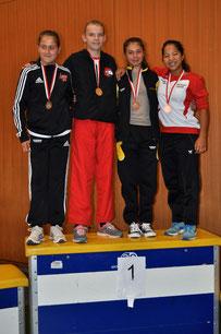 1. Platz, Kumite U14 -49kg, Sheena Mader