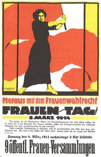 1914, appel au rassemblement pour la journée des femmes en Allemagne