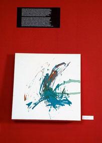 Tilda 2008, Fingerfarben auf Leinwand,  80 x 80 cm / Foto: Galerie SAW Gallery