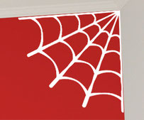 Corner Spider Web Sticker