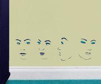 Aspicio faces vinyl art