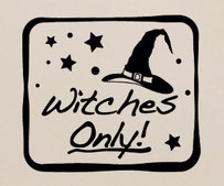 Witches Only Halloween sticker