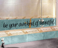 Be your own kind f Beautiful vinyl wall art quote