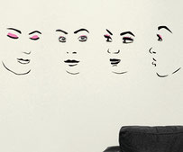 Obtuts, Faces vinyl wall art