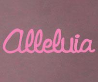 Alleluia, vinyl decal