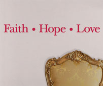 Faith Hope Love, vinyl sticker