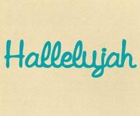 Hallelujah, Vinyl Sticker