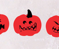 Pumpkins, vinyl stickers