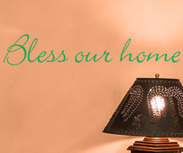 Bless our home, vinyl decal