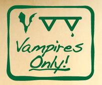 Vampires Only! sign sticker