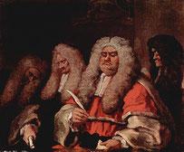 Juge anglais du 18e siècle, Peinture de William Hogarth