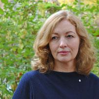 Professor Birgit Wagner mit Lichtpunkt