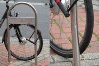Beschädigter Fahrradständer