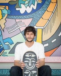 Nils Inne Urban art, skate artist, skate board, Biarritz artiste, cote basque, artiste du sud ouest, street art biarritz