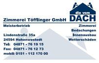 Zimmerei Töfflinger GmbH - Meisterbetrieb in Hohenwestedt