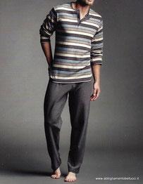 perofil-pigiama-uomo-serafino-pile-in-cottone-con-polsi