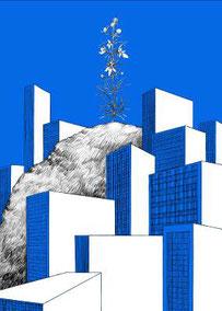 Stéphanie Nava, Projet Bel Vedere, 2013, ensemble de sept affiches numérotées et signées, impressions numériques, collection artothèque du musée des beaux-arts de Brest métropole.