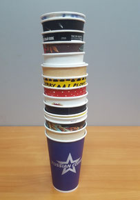 Образцы бумажных стаканчиков, бумажные стаканчики, варианты бумажных стаканчиков, картонные стаканчики, стаканчики для чая и кофе.