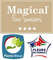 """Magical Four Seasons, les hortensias qui changent 4 fois de couleur labellisés """"Fleur de France"""" et """"Plante Bleue"""""""