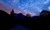 Abendhimmel am großen Ahornboden