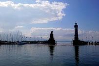 Am Hafen von Lindau am Bodensee
