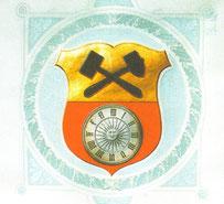 Stadtwappen aus dem Wappenbrief des sächsischen Königs (1912)