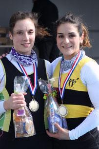 Justine LECOMTE (Gérardmer) et Cécile DUBUISSON (Toul)