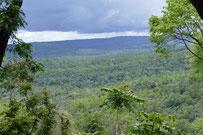 View over Phu Pan, Sakon Nakhon province, Thailand