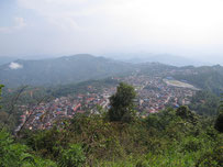 View over Phongsaly-City, Laos