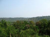 Mountain view in Phu Pan, Sakon Nakhon province, eastern Thailand