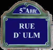 Rue d`Ulm ist ein Straßenname in Paris