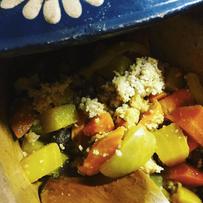Winter Couscous mit gelben Beeten, Süßkartoffel, Möhre und Fenchel