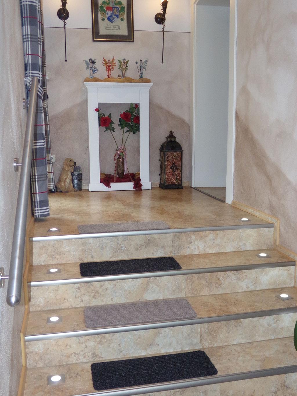 Treppe mit Vinylan