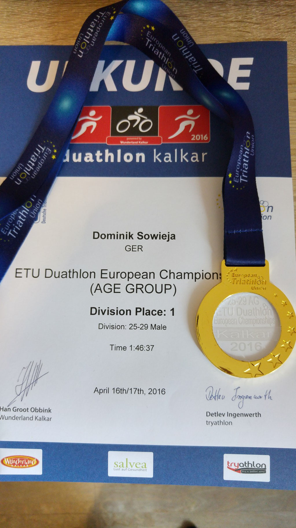 European Championship Gold medal !!!
