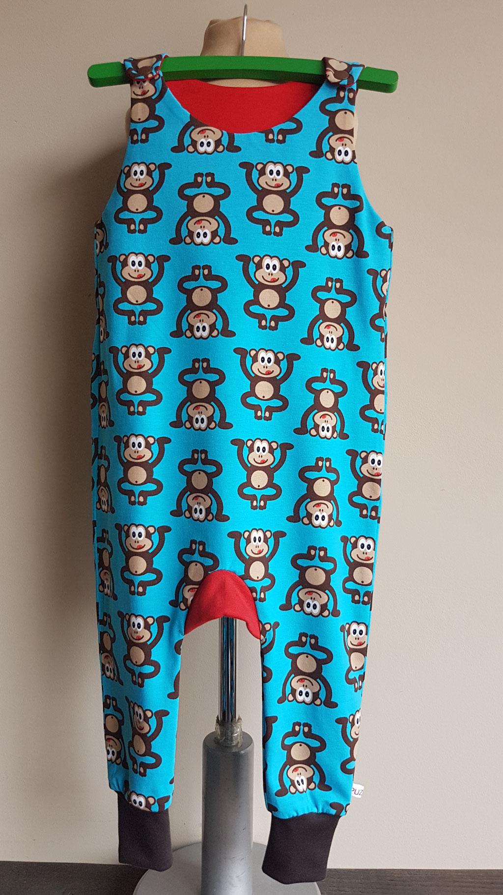 Voor: Monkey business (blauw) (maat 80 op voorraad)