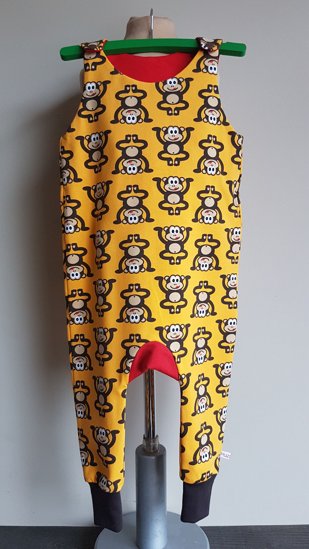 Voor: Monkey business (geel) (maat 80 op voorraad)