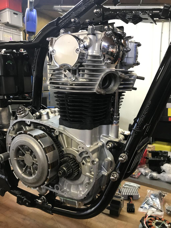 yamaha xs 650 motorrevision nahaufnahme