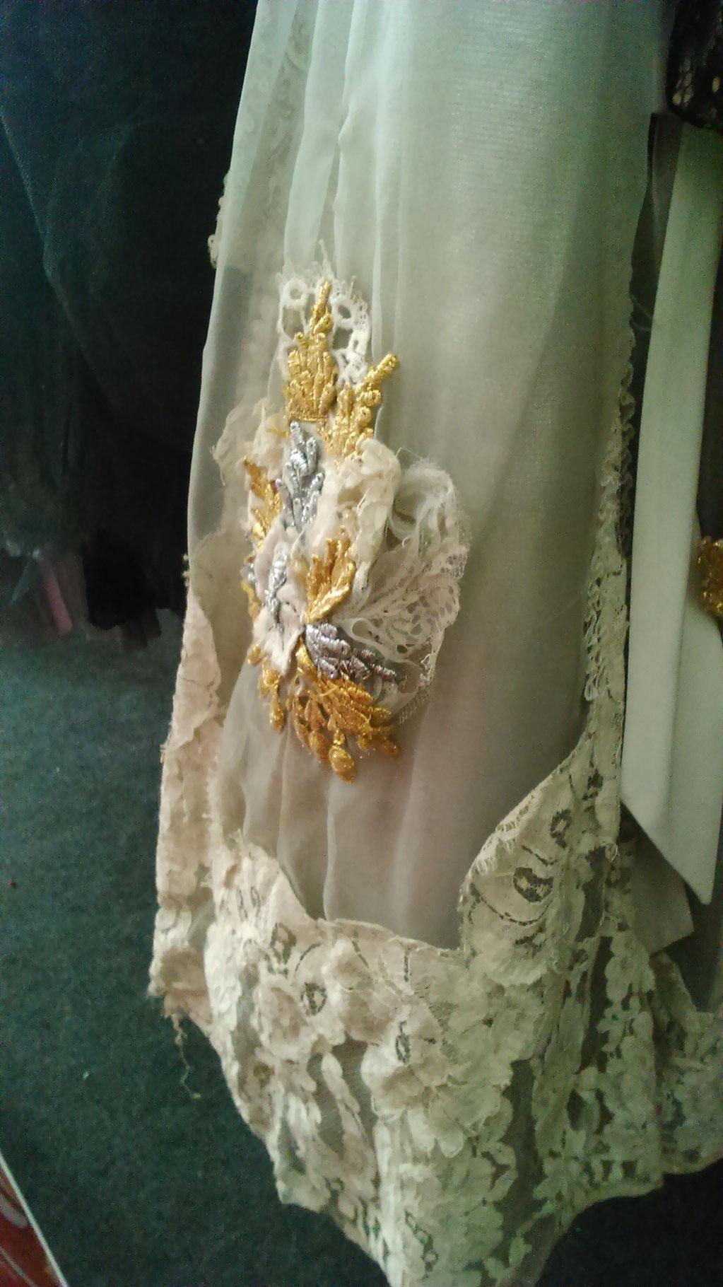 Detail eines Vintage-Ballett-Kleides