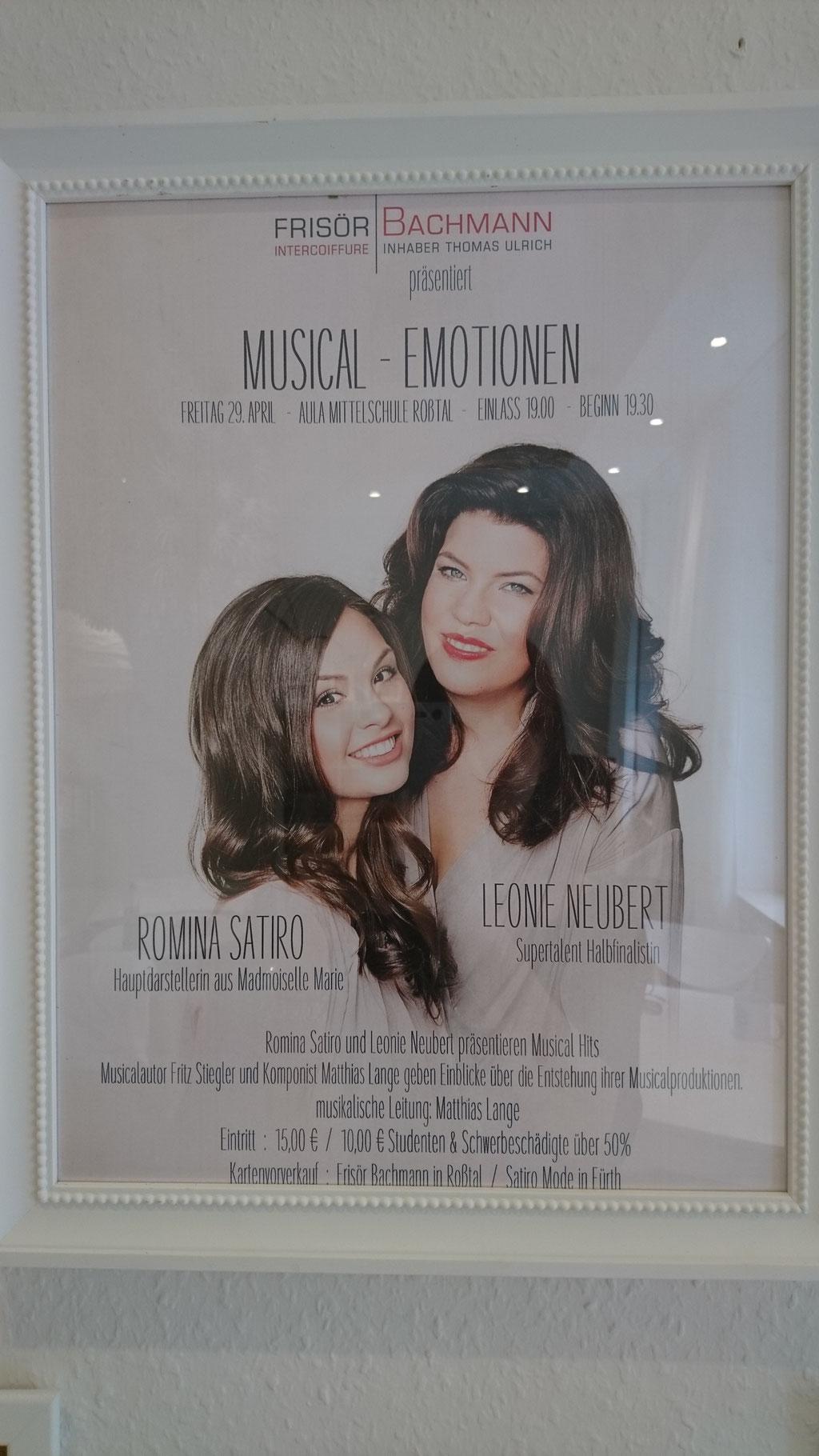 Werbeplakat eines ihrer Auftritte