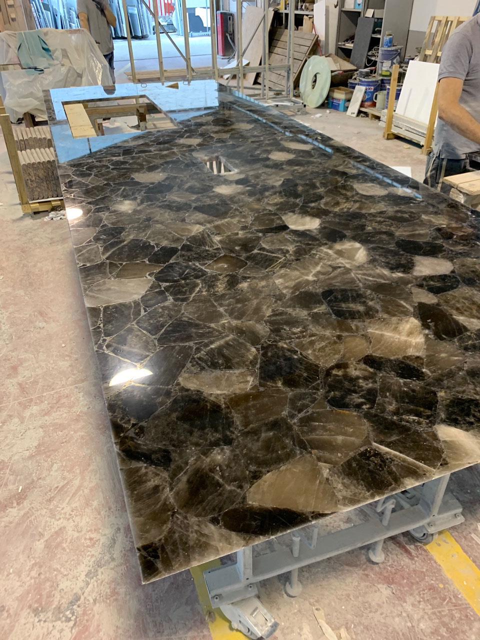 Big size werknladen Smokey Quartz precious stone