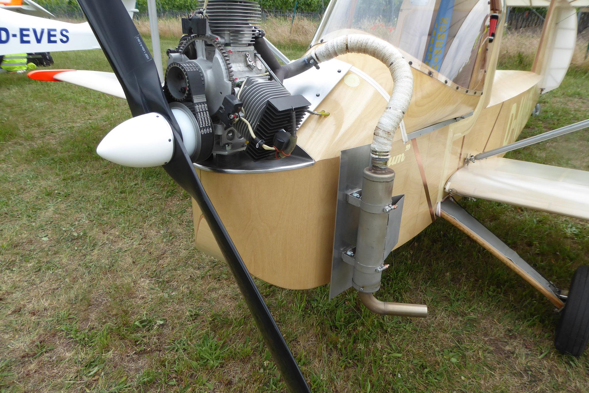 Wartungsfreundlicher Motoreneinbau