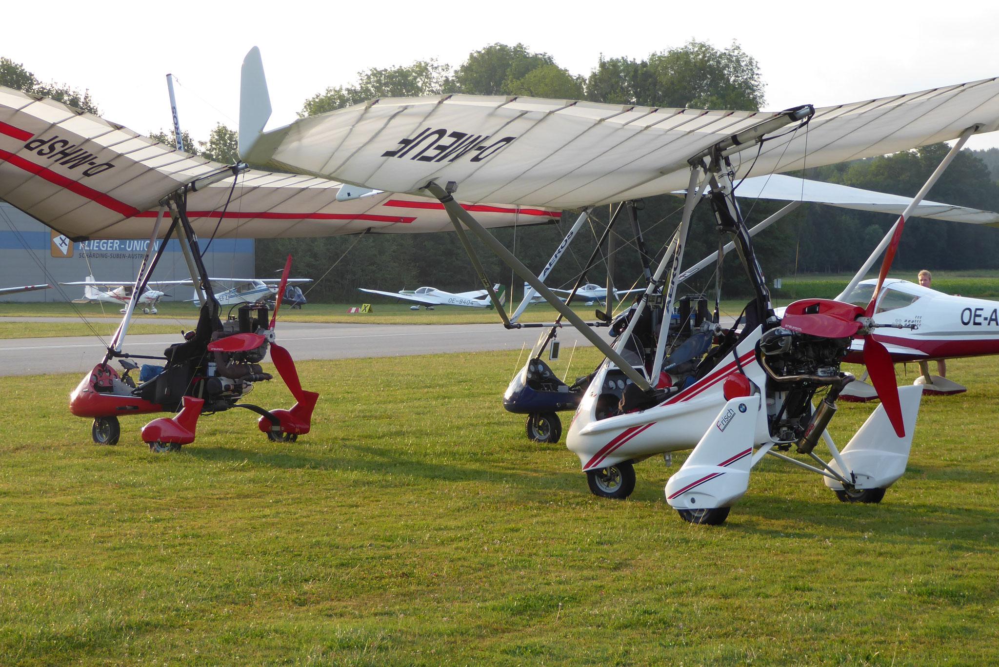 Piloten der Trikes waren warm angezogen