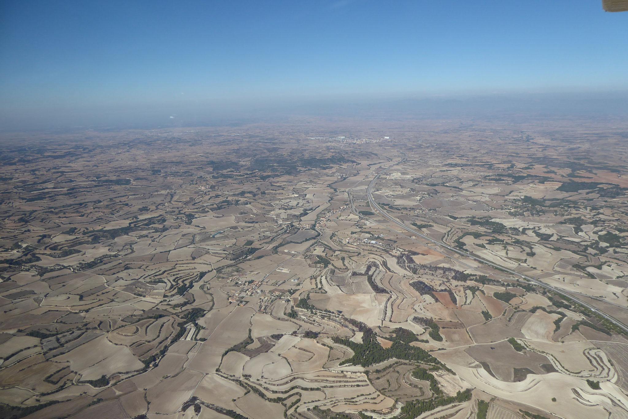 Trocknene Landschaften in Spanien