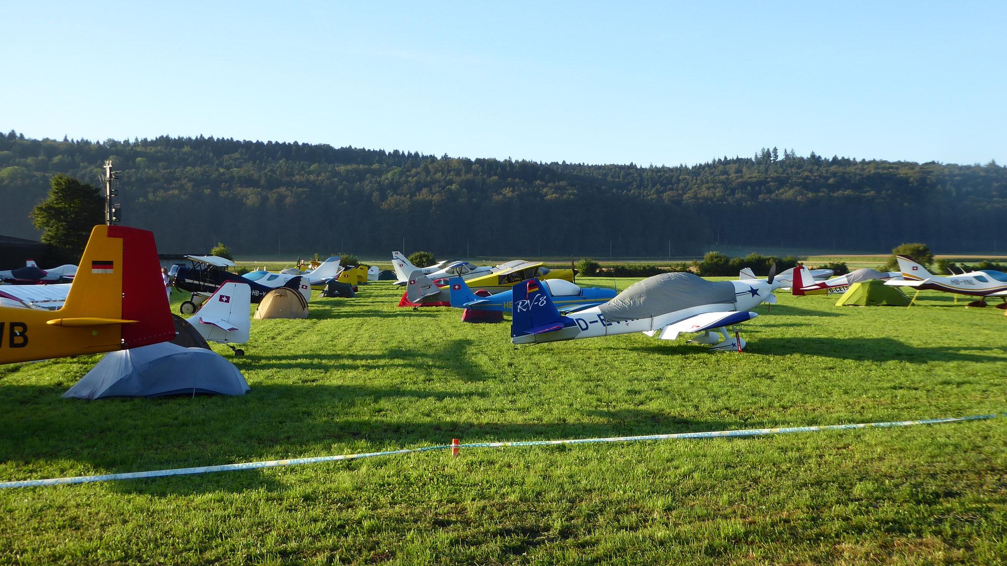 Morgenstimmung im Fliegercamp