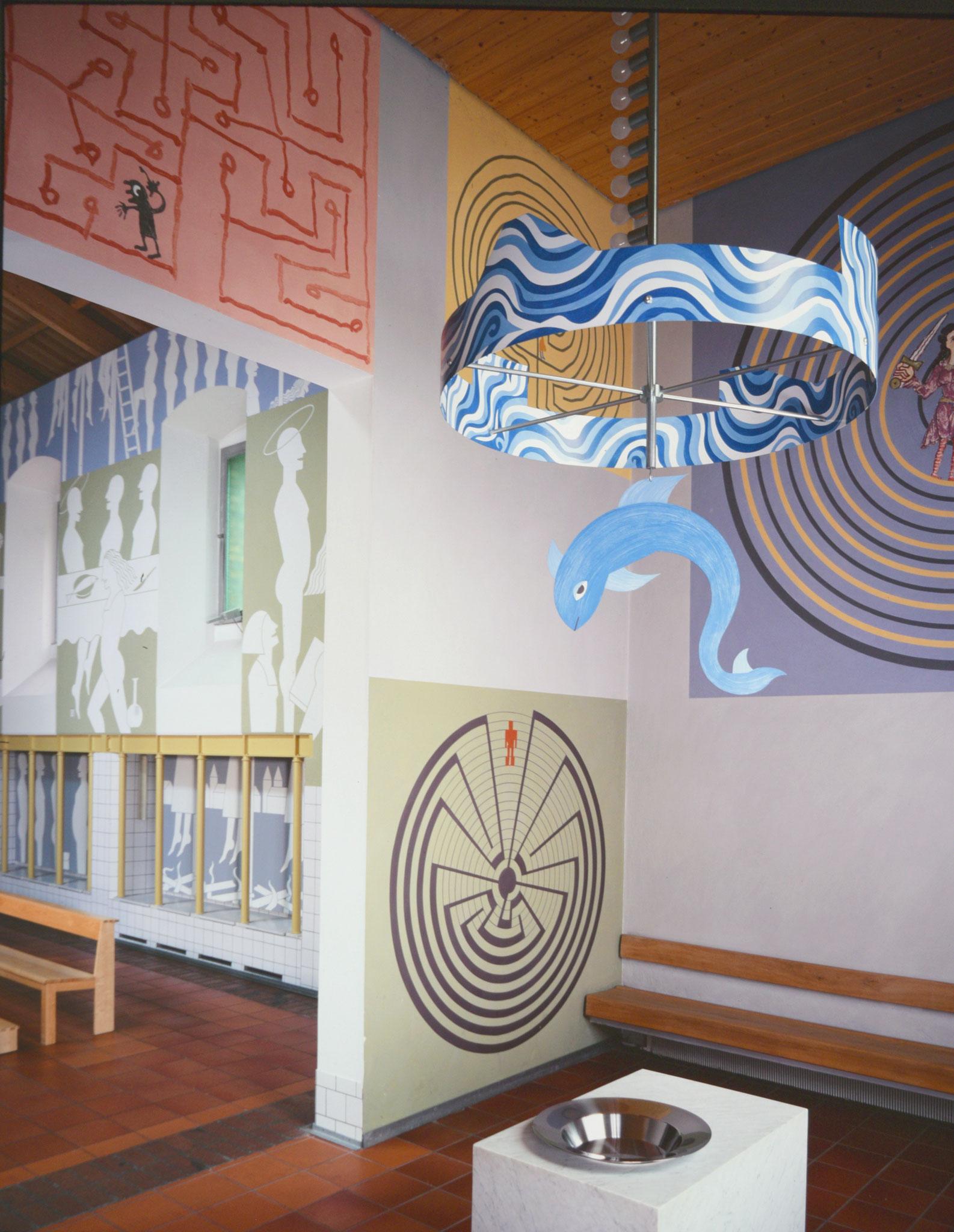 Baptistère avec labyrinths - Foto Hadler