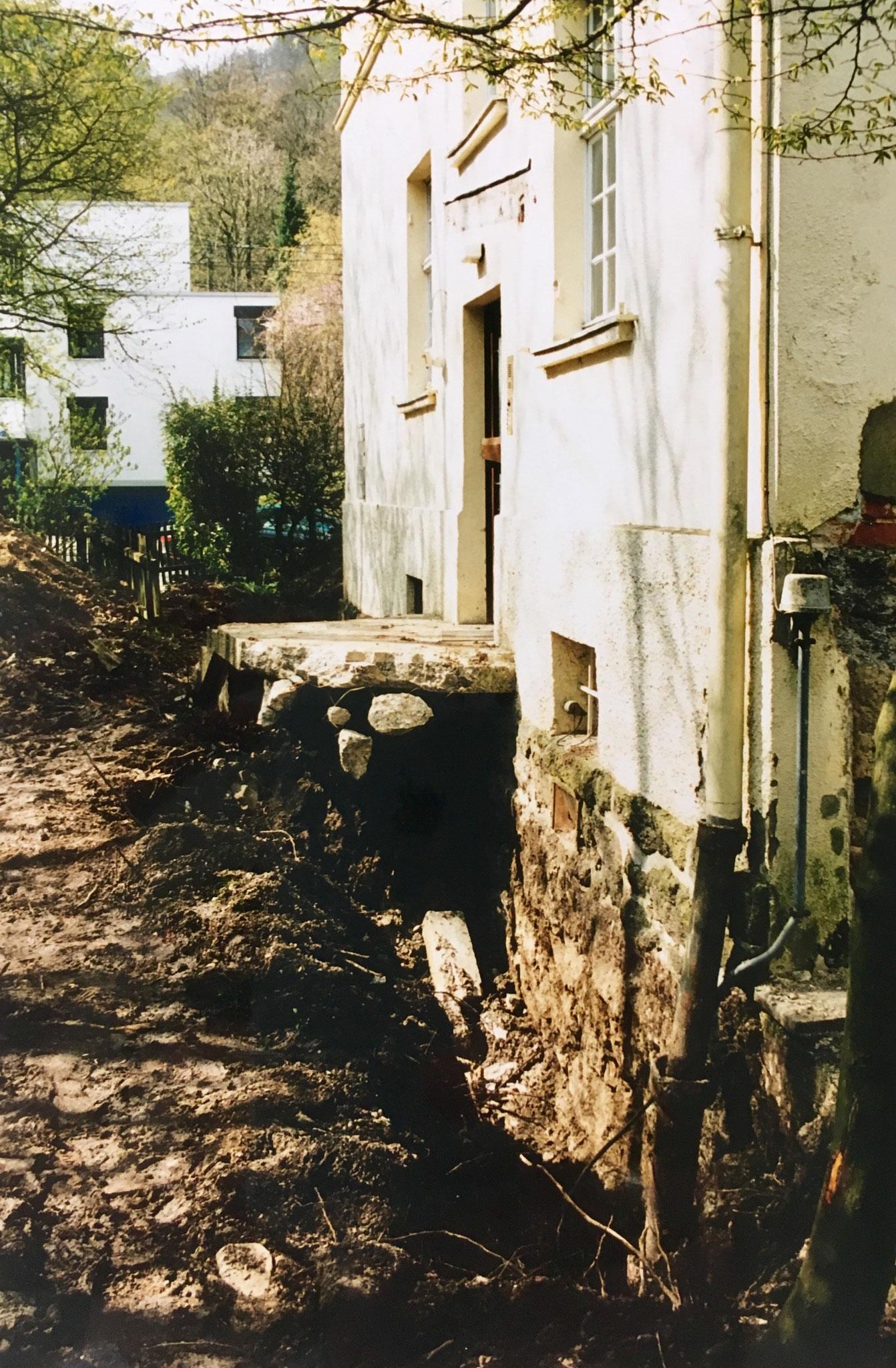 """Kernsanierung """"Villa Becher"""" 1998/99 - Eingang EG, privat"""