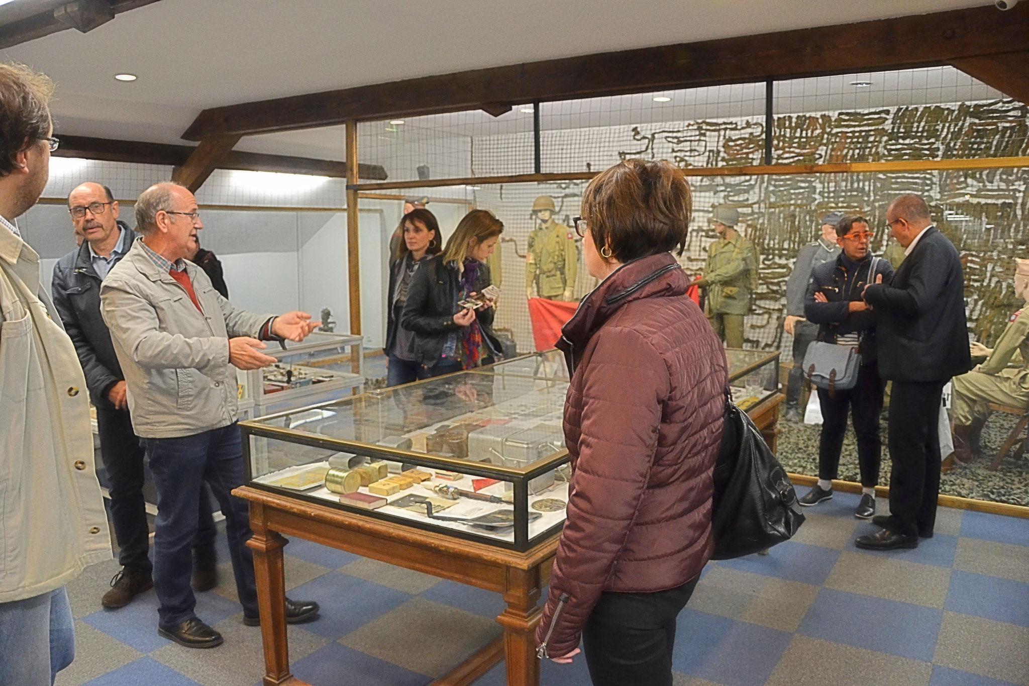 Salle d'exposition  - Musée d'Art Militaire de Vincey